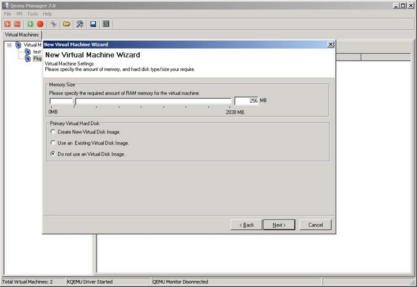 VM Wiz Memory and Virtual Drive
