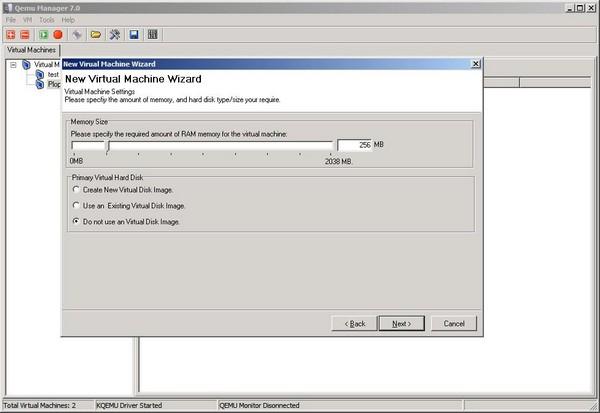 VM Wiz Memory and Virtual Drive