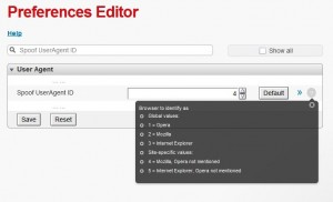 Opera Preferences Editor Window