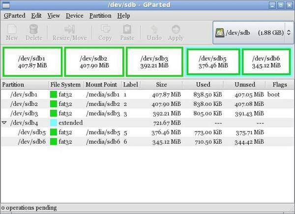 Create a Multi-boot Multi-partition USB