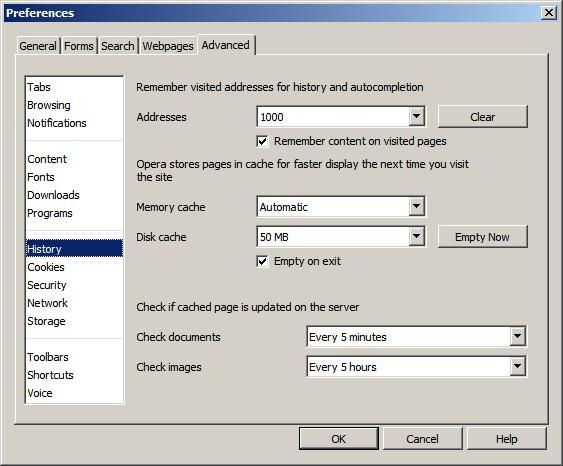 Opera tweaks and loading issues