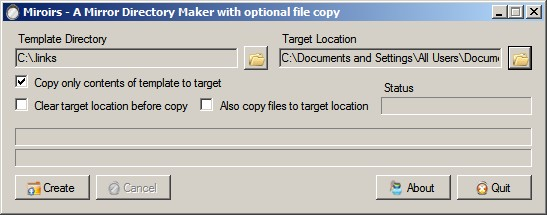 Copying Directory Structures without Files in Windows